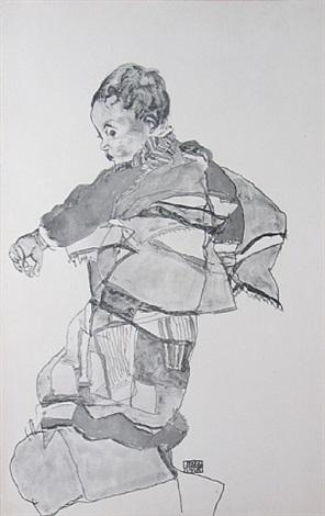 boy from zeichnungen by egon schiele