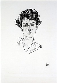 portrait of a young woman from <i>handzeichnungen</i> by egon schiele