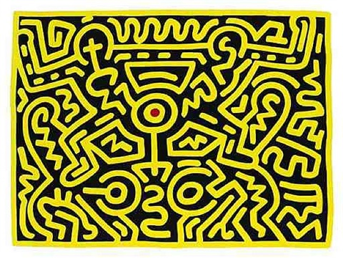 untitled (growing) by keith haring
