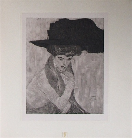 <u>the black feathered hat</u> from das werk by gustav klimt