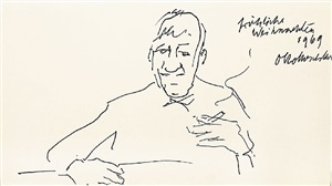 self-portrait by oskar kokoschka