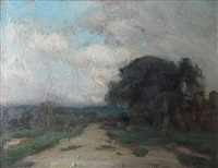 the old road, arthabaska (sold) by marc aurèle de foy suzor-côté