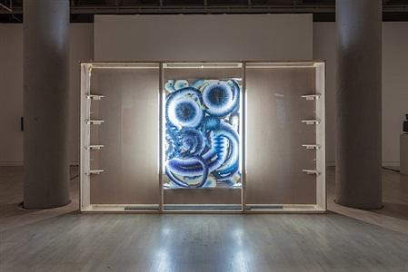 catch as catch can, installation view, works by kerstin brätsch