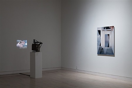 catch as catch can, installation view, works by lucy skaer