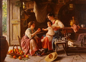 apple for a child by giuseppe magni