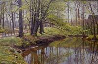 tranquil waters by peder mork monsted