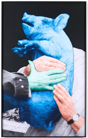 hands and/or feet (part one): piglet/hands (one green) by john baldessari