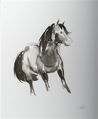 welsh mountain pony no.1 by sir kyffin williams