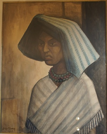 portrait of a mexican woman by diego rivera