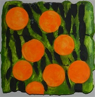 eight oranges april 9, 1992 by donald sultan