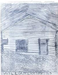 log cabin by william l. hawkins