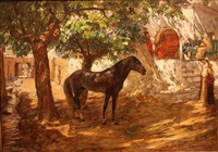 village in the sahara by frederick arthur bridgman