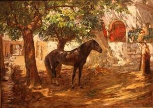 village in the sahara by frederick arthur bridgman