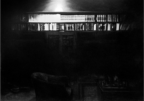 untitled (freud bookcase) by robert longo
