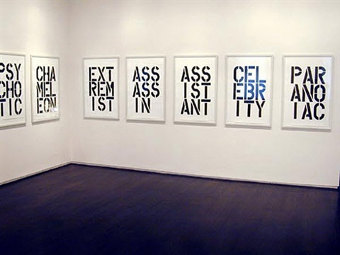 installation view: black book by christopher wool