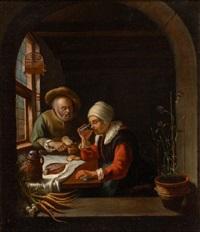 a peasant meal by frans van mieris
