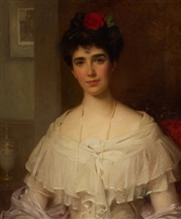 portrait of mrs. kirk of carrickfergus by william samuel henry (sir) llewellyn