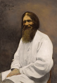 portrait of rasputin by theodora krarup