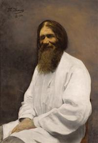 portrait of rasputin by theodora krarup