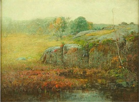 foster woods, lynn, massachusetts by charles edwin lewis green