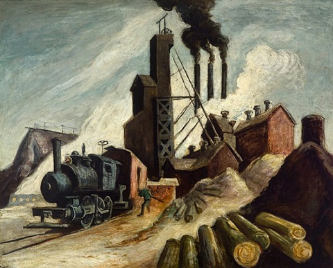 the lumber mill by thomas hart benton