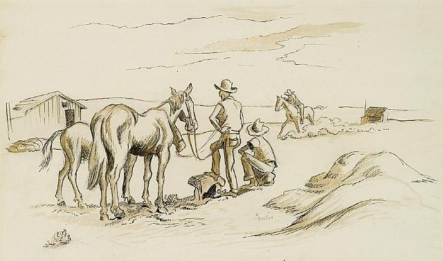 the new pony by thomas hart benton