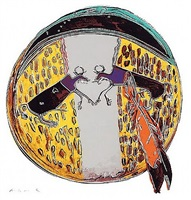 plains indian shield by andy warhol