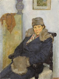 portrait of evgenia by vladimir il'ich malagis
