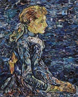 portrait of adeline ravoux, after van gogh (pictures of magazine 2) by vik muniz