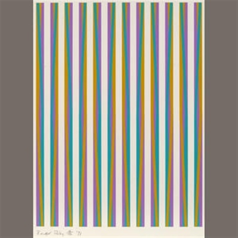 print for chicago 8 from conspiracy the artist as witness by bridget riley