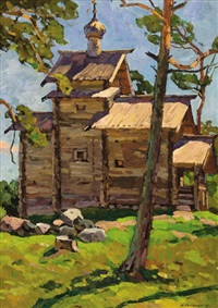 rural church of novgorod by yuri semenyuk the elder