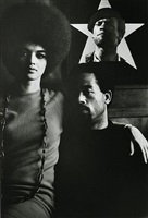 eldridge cleaver and his wife, kathleen, algiers, algeria, by gordon parks