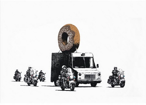 donut (brown) by banksy