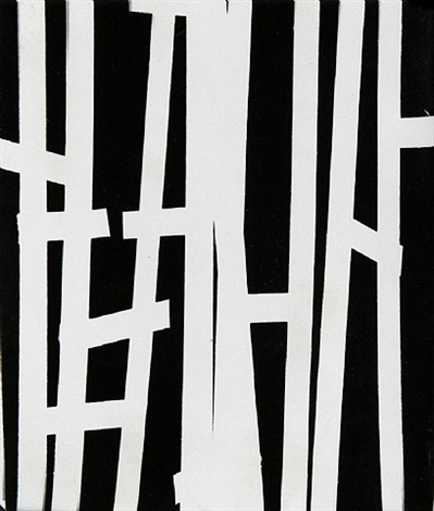 thick vertical lines on black, paris by william klein