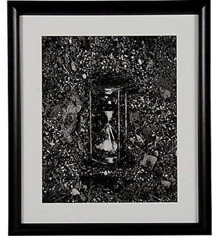 hourglass (pictures of soil) by vik muniz