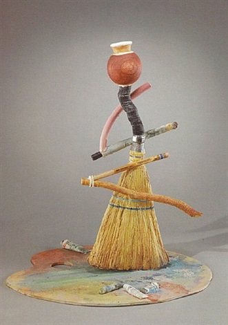 broom and palette bottle by richard shaw