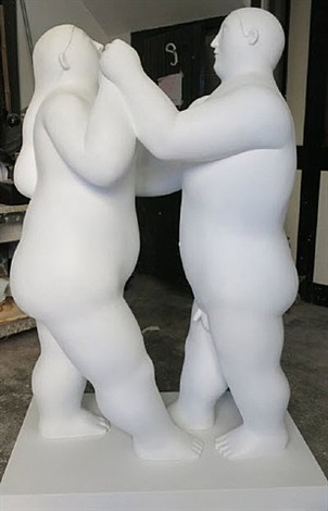 dancing couple by fernando botero