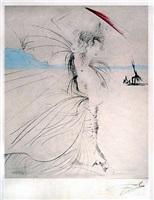 les aigrettes (the egrets) by salvador dalí