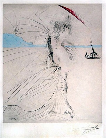 les aigrettes (the egrets) by salvador dalí