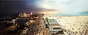 santa monica, day to night by stephen wilkes