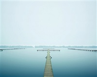 thin dock, west lake, hangzhou, china by david burdeny