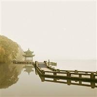 man watching sunrise, hangzhou, china by david burdeny