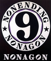nonending nonagon by robert indiana