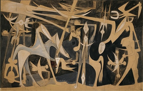 grande composition by wifredo lam