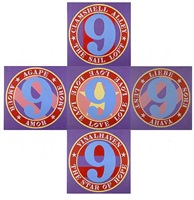 the ninth love cross by robert indiana