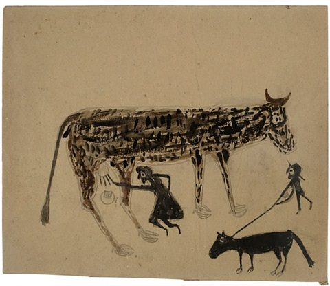 untitled, (milking) by bill traylor