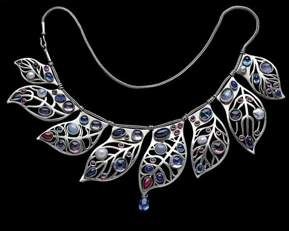 graduated fringe necklace by elisabeth treskow