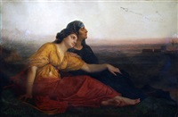 jewish captives at babylon by edward harrison may