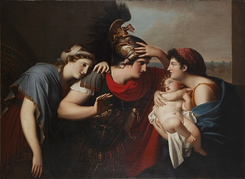 incontro di ettore con andromaca (the meeting of hector and andromache) by gaspare landi