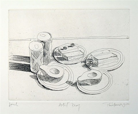 lunch, from the series, delights by wayne thiebaud